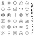 thin line vector icon set  ... | Shutterstock .eps vector #1130702780