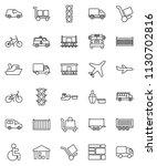 thin line vector icon set  ... | Shutterstock .eps vector #1130702816