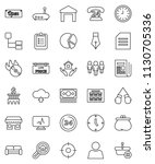 thin line vector icon set  ... | Shutterstock .eps vector #1130705336