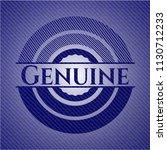 genuine emblem with denim... | Shutterstock .eps vector #1130712233