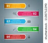 3d infographic design template... | Shutterstock .eps vector #1130712290