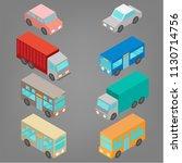 set of isometric automobile... | Shutterstock .eps vector #1130714756