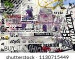vienna  austria. vintage... | Shutterstock . vector #1130715449