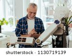 successful inventor. happy nice ... | Shutterstock . vector #1130719139