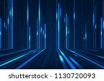 abstract blue lines on dark...   Shutterstock . vector #1130720093