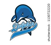 dolphin logo with text space... | Shutterstock .eps vector #1130722220