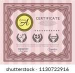 red diploma template or... | Shutterstock .eps vector #1130722916