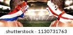 soccer or football fan athlete... | Shutterstock . vector #1130731763