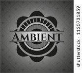 ambient realistic dark emblem | Shutterstock .eps vector #1130731859