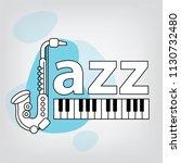 jazz festival creative logo... | Shutterstock .eps vector #1130732480