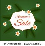 summer sale. vector card. | Shutterstock .eps vector #1130733569