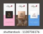vector set packaging templates... | Shutterstock .eps vector #1130736176