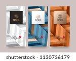 vector set packaging templates... | Shutterstock .eps vector #1130736179