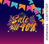 sale off 40   beautiful... | Shutterstock .eps vector #1130737529