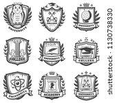 vintage educational coat of... | Shutterstock .eps vector #1130738330