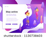 Landing page template of Healthy lifestyle, womens fitness, jogging Modern flat design concept of web page design for website and mobile website Easy to edit and customize Vector illustration