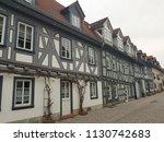 half timbered houses  weiher... | Shutterstock . vector #1130742683