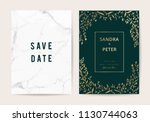 luxury wedding invitation cards ... | Shutterstock .eps vector #1130744063