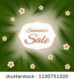 summer sale. vector card. | Shutterstock .eps vector #1130751320