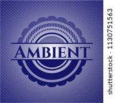ambient emblem with denim... | Shutterstock .eps vector #1130751563