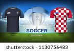 france vs croatia  final match... | Shutterstock .eps vector #1130756483