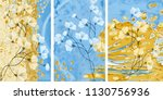 collection of designer oil... | Shutterstock . vector #1130756936