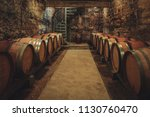 local wine cellar in burgundy... | Shutterstock . vector #1130760470