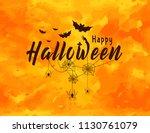 happy halloween lettering... | Shutterstock .eps vector #1130761079