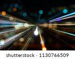 city lights bokeh blur effect... | Shutterstock . vector #1130766509