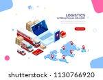 distribution  global factory...   Shutterstock . vector #1130766920