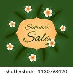summer sale. vector card. | Shutterstock .eps vector #1130768420