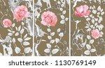 collection of designer oil... | Shutterstock . vector #1130769149