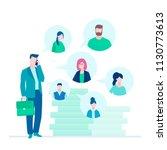 business communication   flat... | Shutterstock .eps vector #1130773613