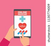 order online medicine on... | Shutterstock .eps vector #1130774009