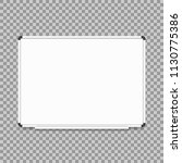 empty whiteboard. magnetic... | Shutterstock .eps vector #1130775386