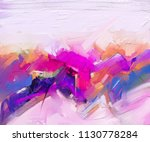 abstract colorful oil painting... | Shutterstock . vector #1130778284