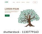 big green tree  illustrative...