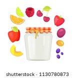 preserved food homemade... | Shutterstock .eps vector #1130780873