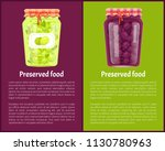 preserved food poster canned... | Shutterstock .eps vector #1130780963