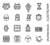 time and clock icons set. line...   Shutterstock .eps vector #1130782409