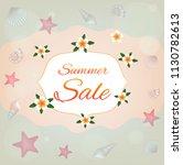 summer sale. vector card. | Shutterstock .eps vector #1130782613