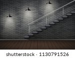 dark brick wall and staircase.... | Shutterstock .eps vector #1130791526