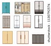 set of home dressing room... | Shutterstock .eps vector #1130792576