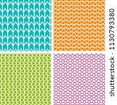 set of four geometric patterns. ... | Shutterstock .eps vector #1130793380