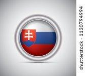 slovakia flag button style.... | Shutterstock .eps vector #1130794994