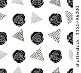 seamless pattern with black... | Shutterstock .eps vector #1130796200