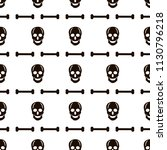 seamless pattern with black... | Shutterstock .eps vector #1130796218