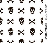 seamless pattern with black... | Shutterstock .eps vector #1130796224