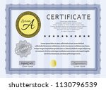 blue certificate or diploma... | Shutterstock .eps vector #1130796539