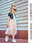 lifestyle portrait of stylish... | Shutterstock . vector #1130800190